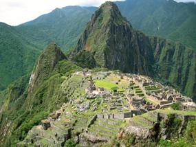 Machu Picchu as seen from Montaña Machu Picchu
