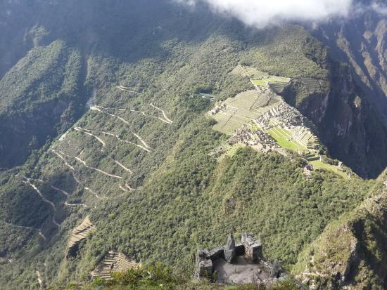 Machu Picchu as seen from Huayna Picchu www.perucycling.com